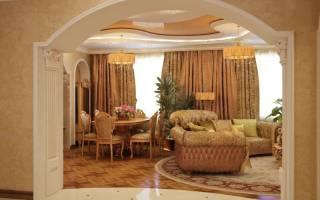 Арка в гостиной дизайн