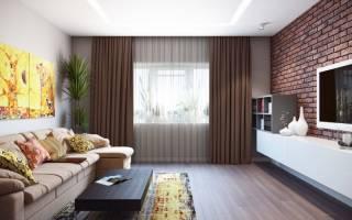 Дизайн гостинной квадратной