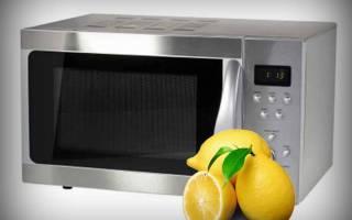 Как помыть микроволновку с помощью лимона