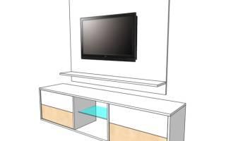 Как сделать стенку под телевизор своими руками?