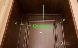 Как можно сделать откосы у входной двери?