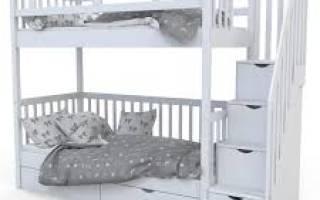 Высота двухъярусной кровати стандарт
