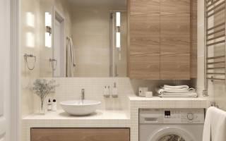 Как правильно установить стиральную машину в ванной