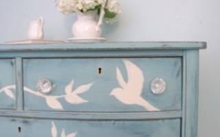 Переделка старой мебели своими руками стиль прованс