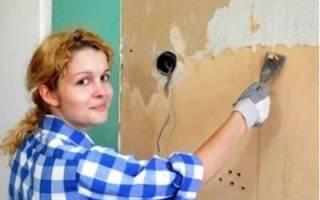 Как снять бумажные обои со стены легко