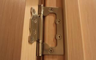 Как крепить накладные петли на двери?