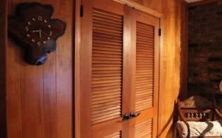 Как установить жалюзийные дверцы в нишу