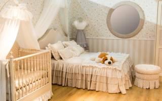 Идеи для маленькой спальни с детской кроваткой