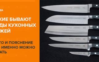 Какие бывают ножи для кухни?
