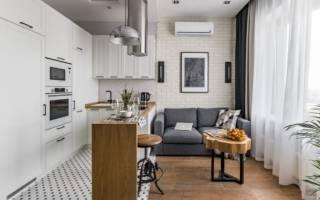 Как разделить пространство между кухней и гостиной?