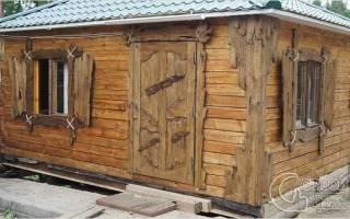 Как состарить деревянную дверь?