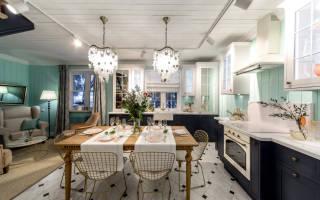 Бюджетный дизайн кухни гостиной