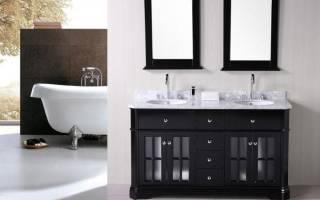 Как подобрать тумбу под раковину в ванной