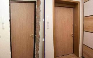 Как ставить откосы на входную дверь?