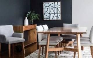 Гостиная с обеденным столом дизайн