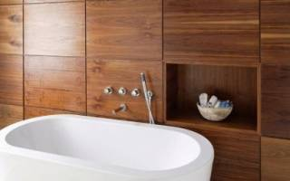 Ванная комната дизайн плитка под дерево