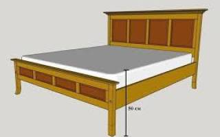 Стандартная высота кровати с матрасом от пола