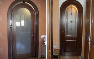 Как арку переделать в дверь?