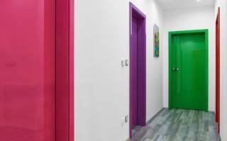 Как перекрасить шпонированную дверь?