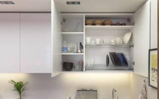 Как установить сушилку для посуды в шкаф