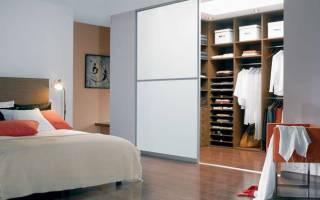 Как построить гардеробную в спальне