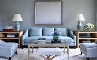 Голубая гостиная дизайн