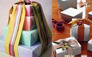Как заворачивать подарок в подарочную бумагу