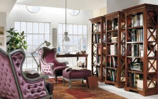 Дизайн гостиной библиотеки