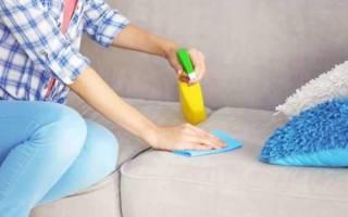 Как убрать пятна с дивана без разводов