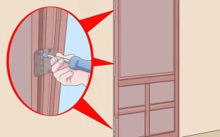 Как выровнять железную дверь?