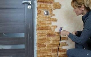 Как положить декоративный камень вокруг двери?