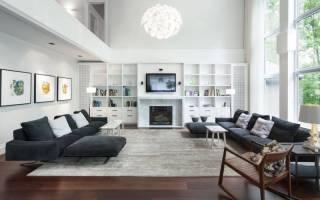 Дизайн больших гостиных комнат