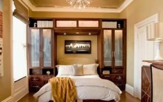 Мебель для маленькой спальни с угловым шкафом