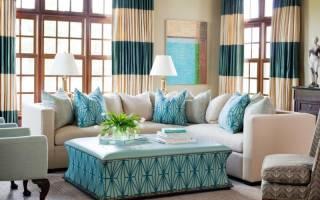 Гостиная в голубых тонах дизайн