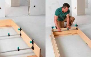 Как собрать коробку для входной двери?