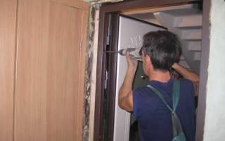 Монтаж дверной коробки из МДФ