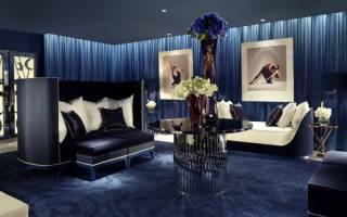 Гостиная в синем цвете дизайн фото