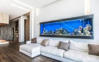 Гостиная с аквариумом дизайн