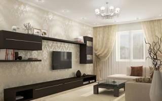 Дизайн гостиной в бежево коричневых тонах