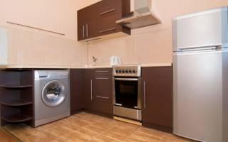 Как установить стиральную машину в кухонный гарнитур