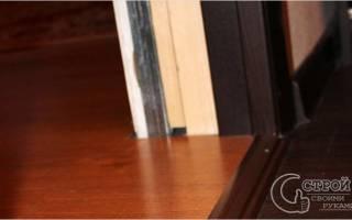 Как класть ламинат у порога двери?
