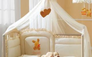 На что крепить балдахин на детскую кроватку?