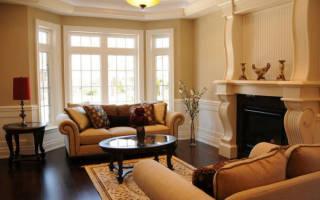 Дизайн гостиной в доме с эркером