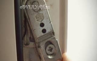 Как отрегулировать щель в пластиковой двери?