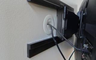 Как украсить провода от телевизора на стене