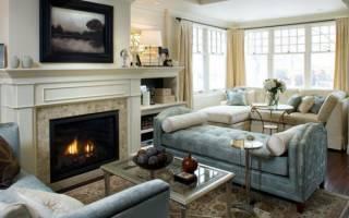 Гостиная с камином в квартире дизайн фото
