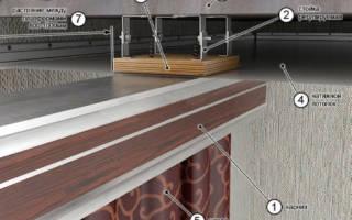 Как крепится потолочный карниз к натяжному потолку