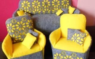 Кукольный диван своими руками из картона