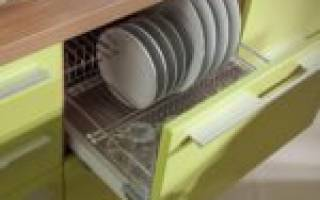 Как закрепить сушилку для посуды в шкафу?