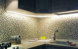 Как крепить светодиодную подсветку на кухне?
